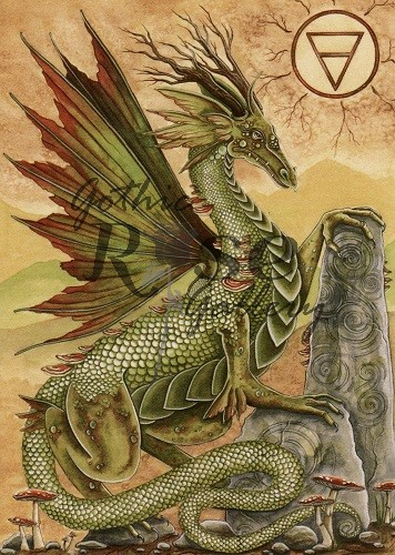 Earth Dragon Greeting Card