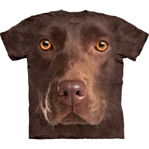 Chocolate Labrador Face T-shirt