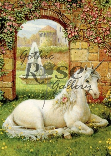 Unicorn Garden Greeting Card