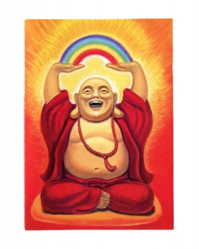 Laughing Buddha Birthday Card