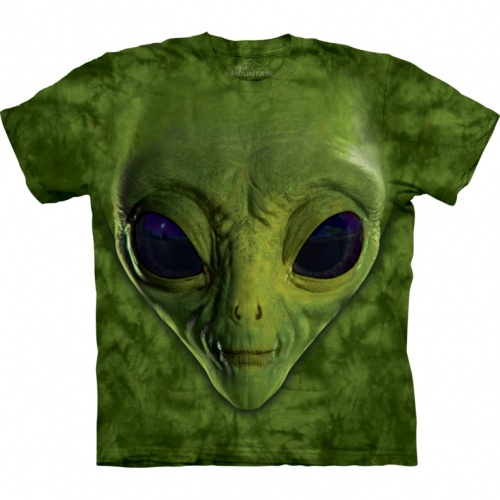 Green Alien Face Child T-shirt