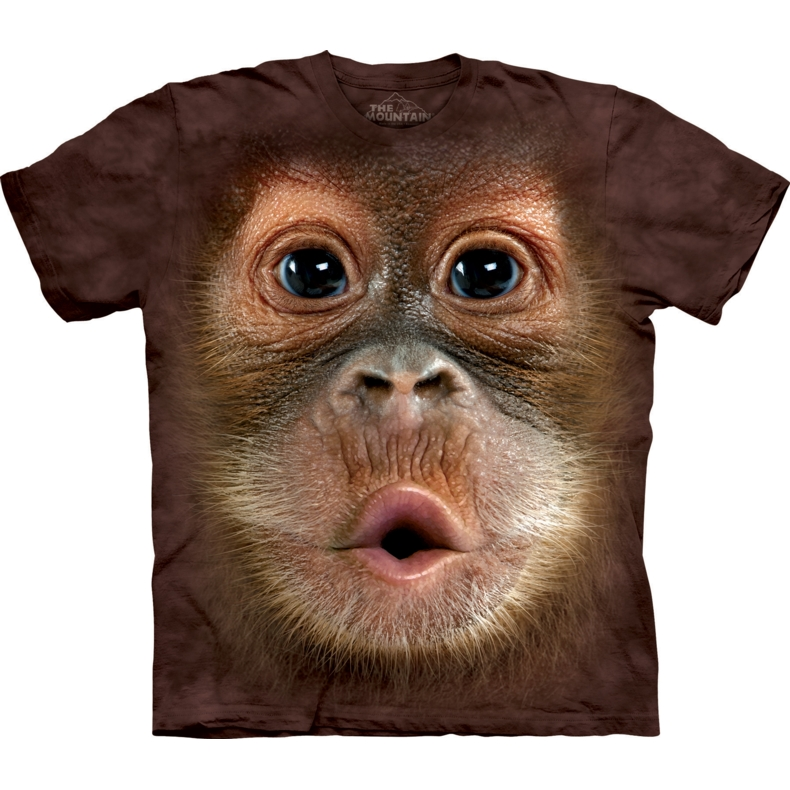 Big Face Baby Orangutan Child T-shirt
