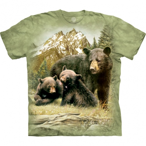Black Bear Family Child T-shirt
