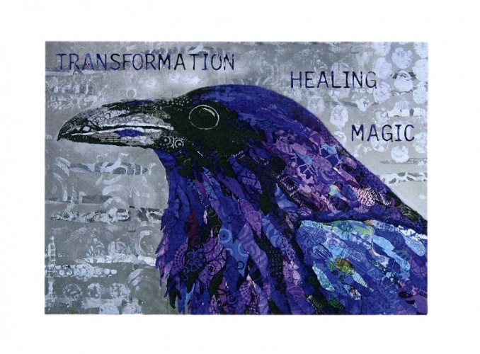 Healing Raven Encouragement Card