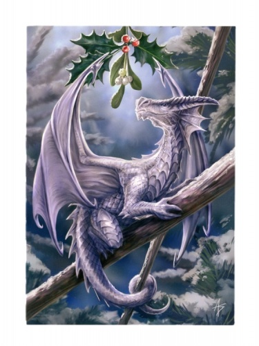 Snow Dragon Christmas Card
