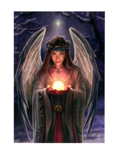 Yule Angel Christmas Card