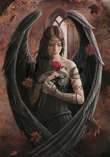 Angel Rose Greeting Card