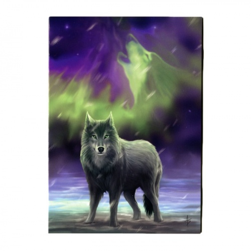 Aura Wolf Greeting Card