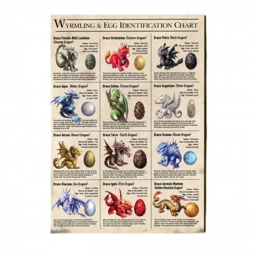Wyrmling & Egg Identification Chart Greeting Card