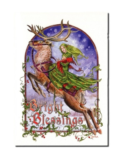 Bright Blessings Christmas Card