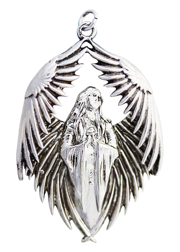 Prayer for the Fallen Angel Pewter Pendant