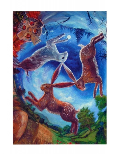 The Three Hares Greeting Card