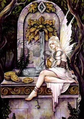 Fairy Wishing Well Greeting Card