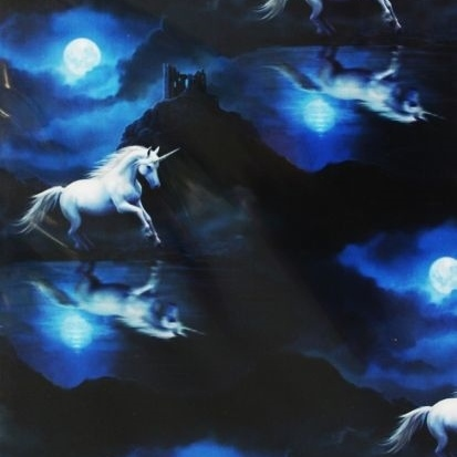 Moonlight Unicorn Gift Wrap Sheet 42 x 59 cm
