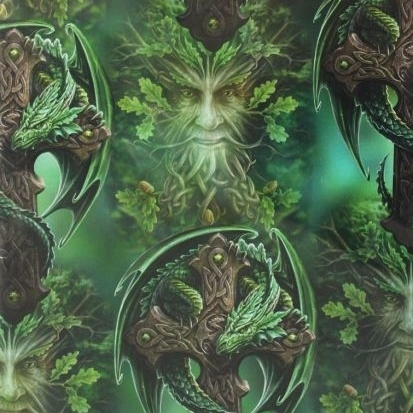 Woodland Guardian Dragon Gift Wrap Sheet 42 x 59 cm