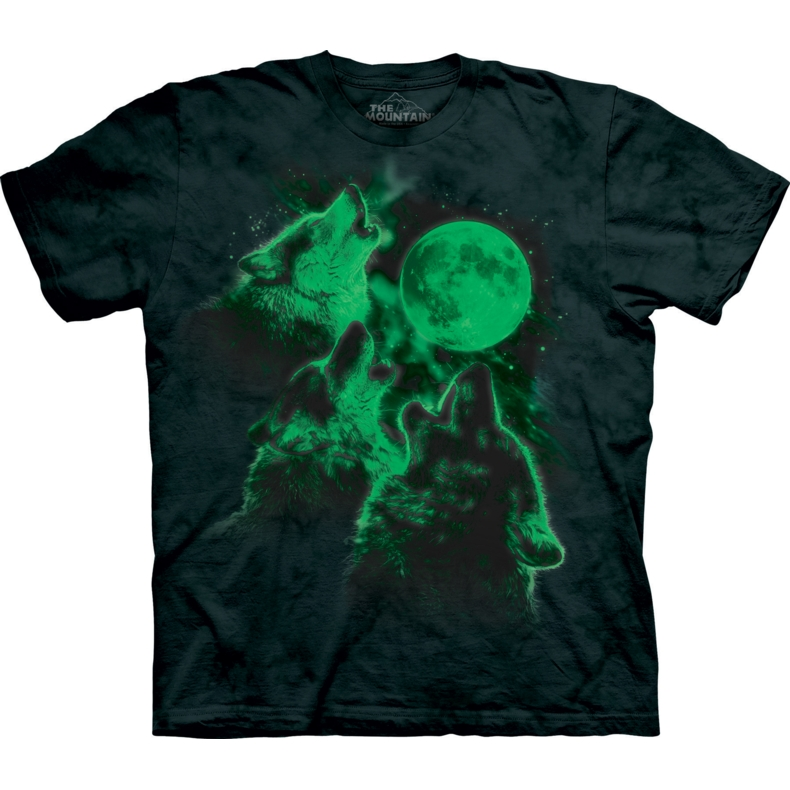Three Wolf Moon Glow T-shirt