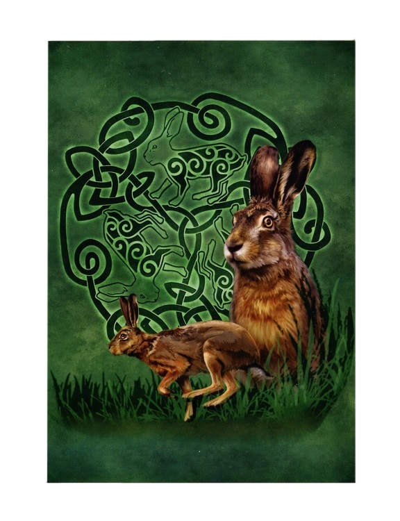 Celtic Hare Greeting Card
